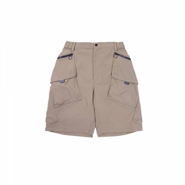 oqLiq 2021SS - natural blessing - tai chi pocket shorts - khaki