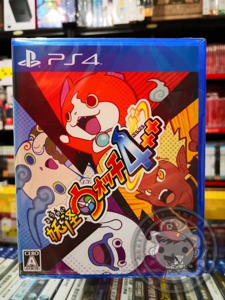 全新 PS4 原版遊戲片, 妖怪手錶 4++ 日文包裝中文版, 無贈品