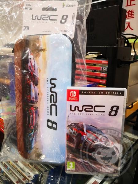 全新 NS 原版遊戲片, WRC 世界越野冠軍賽 8 經典收藏版 英文包裝(內有中文字幕), 送特典贈品收納硬殼包