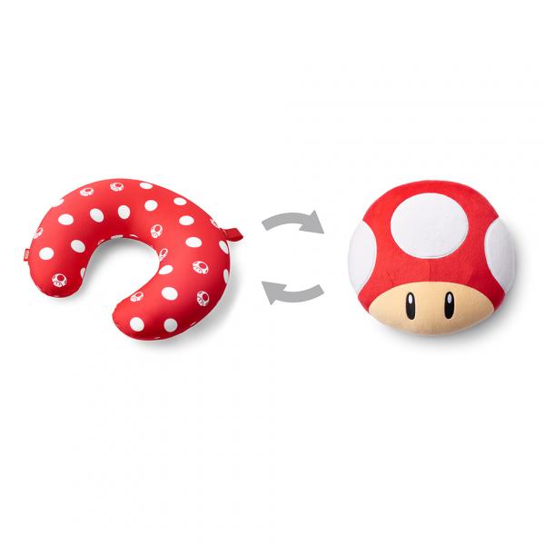 [預購] 任天堂原廠 超級瑪利歐旅行系列 兩用頸枕-超級蘑菇 [延期至2020年內上市]