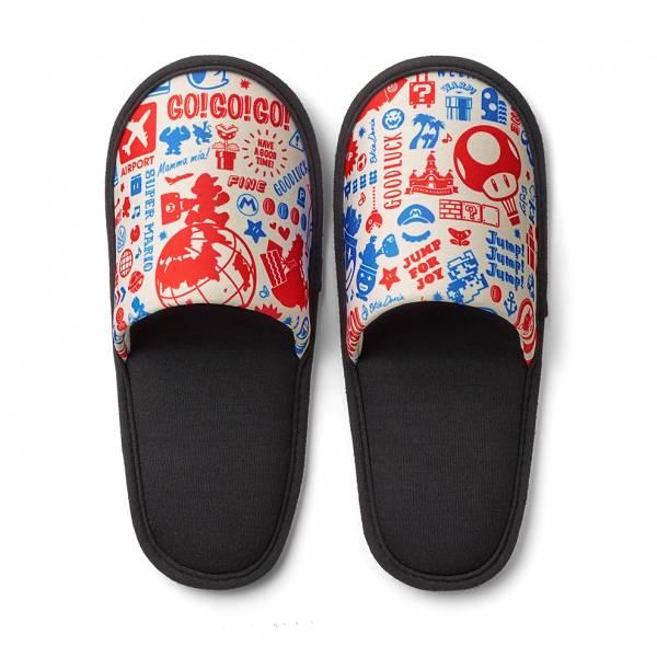 [預購] 任天堂原廠 超級瑪利歐旅行系列 便攜型拖鞋-旅行瑪利歐 [延期至2020年內上市]