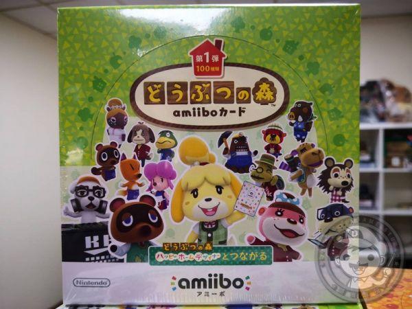 全新任天堂原廠 amiibo 卡片, amiibo 動物之森 第一彈 ,一盒50包, 不拆賣