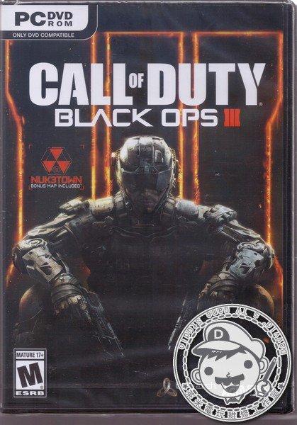 全新 PC 原版遊戲片, 決勝時刻:黑色行動 3 中文版(英文包裝), 無贈品