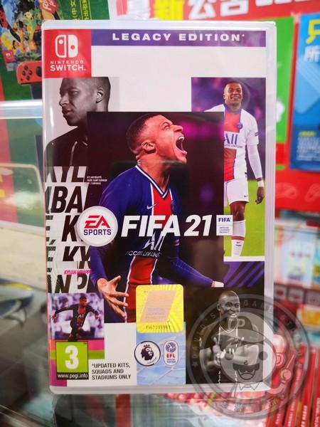 全新 Switch 原版卡帶, FIFA 國際足盟大賽 21 遺產版 簡中版