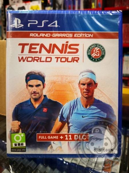 全新 PS4 原版遊戲片, 網球世界巡迴賽 法國網球公開賽版 英文包裝中文版