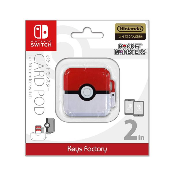 全新日本原裝進口 KEYS FACTORY 牌 NS 主機用 寶貝球 仕樣 2 入裝卡帶收納盒, 沒有遊戲片