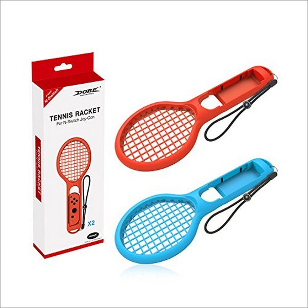 全新 DOBE 牌,瑪利歐網球 Switch版 專用體感網球拍 兩人用(內有 2 支)(不含手把)