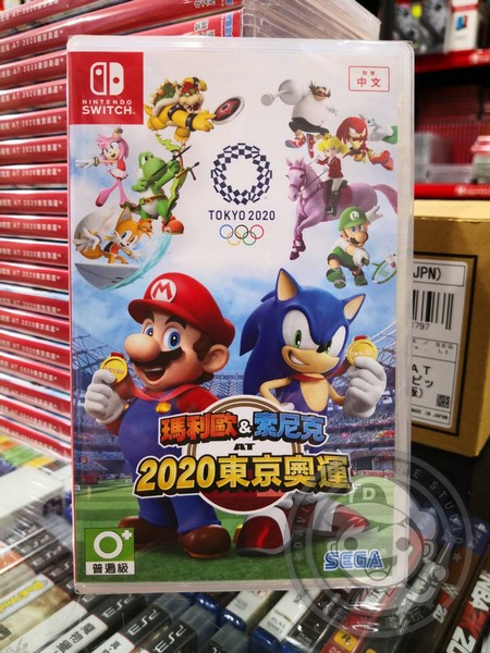 全新 NS 原版卡帶,  瑪利歐 & 索尼克 AT 東京奧運 中文版
