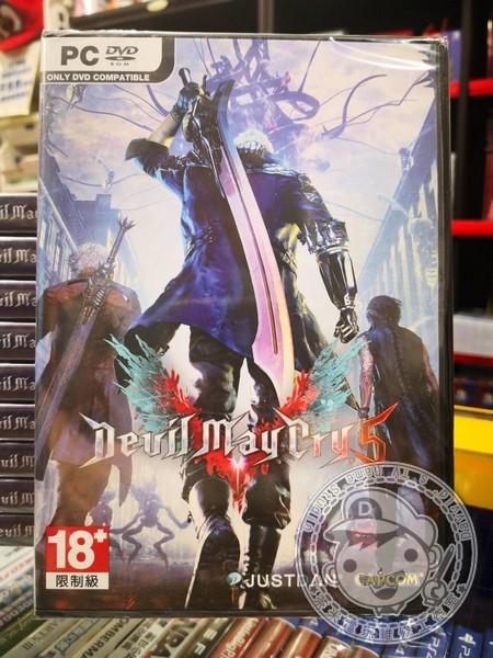 全新 PC 電腦原版片, 惡魔獵人 5 中文版(有安裝光碟)