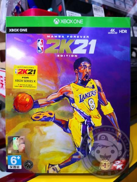 期間限定 全新 XBOXONE 原版遊戲片, NBA 2K21 永懷曼巴版 中文版