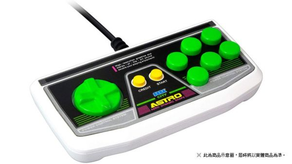 全新日本公司貨 SEGA 迷你街機 Astro City Mini 有線控制器單把, 無保固