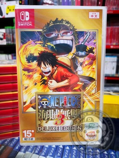 特價片 全新 NS Switch 原版遊戲, 航海王:海賊無雙 3 豪華版 中文版