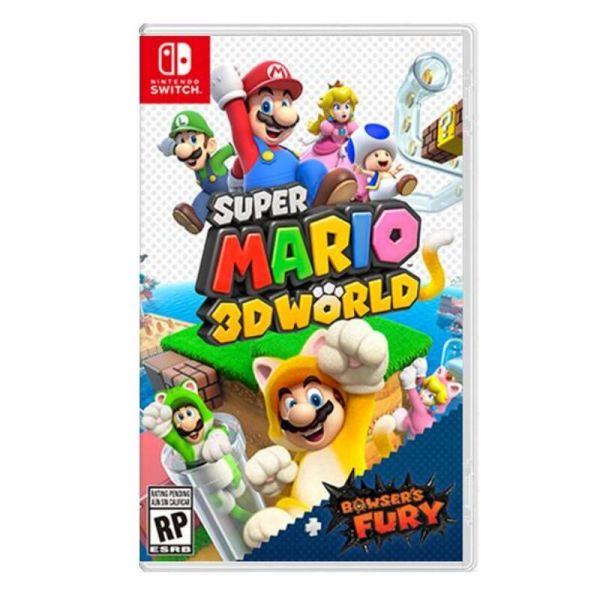 美版包裝 全新 Switch 原版卡帶, 超級瑪利歐 3D 世界 + 狂怒世界(內有中文)