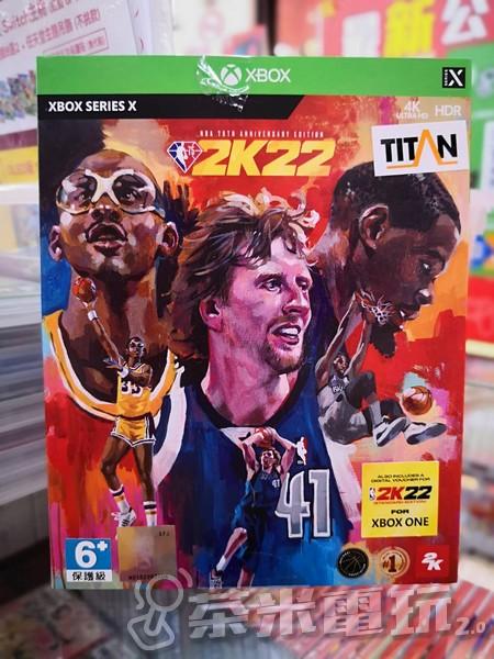 全新 XBSX原版遊戲片, NBA 2K22 75 週年紀念中文版, 附特典DLC