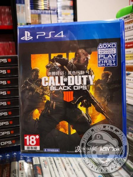 全新 PS4 原版遊戲片, 決勝時刻:黑色行動 4 中文一般版, 須連線遊玩喔