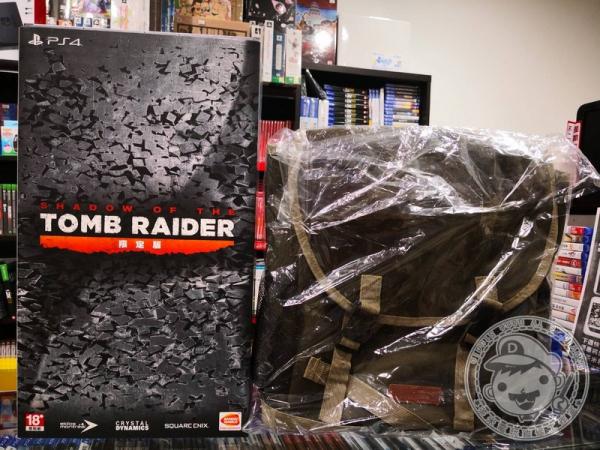 限量 全新 PS4 古墓奇兵:暗影 中文限定版, 加限量包包