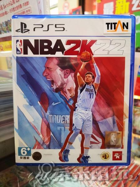 全新 PS5 原版遊戲片, NBA 2K22 中文一般版, 附特典DLC