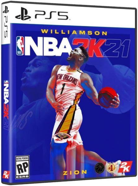 期間限定 全新 PS5 原版遊戲片, NBA 2K21 中文一般版, 附DLC卡