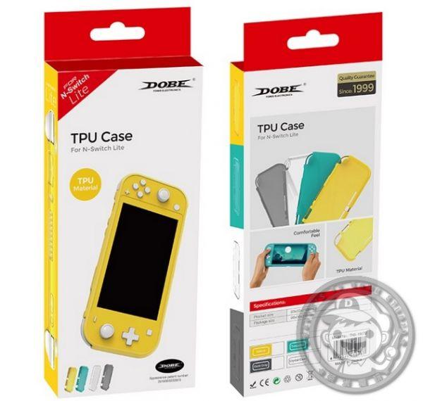 全新 DOBE 牌 Switch Lite 掌機專用 透明 TPU 材質保護殼, 沒有主機喔