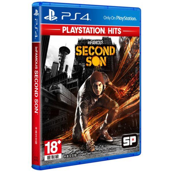 特價片 全新 PS4 原版遊戲片, 惡名昭彰:第二之子 中英文合版(PlayStation Hits)