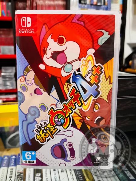 全新 Switch 原版遊戲卡帶, 妖怪手錶 4++ 日文包裝中文版, 附贈特典贈品