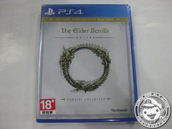 全新 PS4 原版遊戲片, 上古卷軸 Online 英文亞版, 不能單機遊玩喔