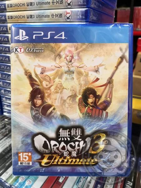 全新 PS4 原版遊戲片, 無雙 OROCHI 蛇魔 3 Ultimate 中文版