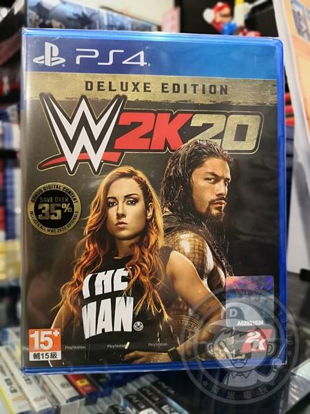 全新 PS4 原版遊戲片, WWE 2K20 英文豪華版(沒出中文)