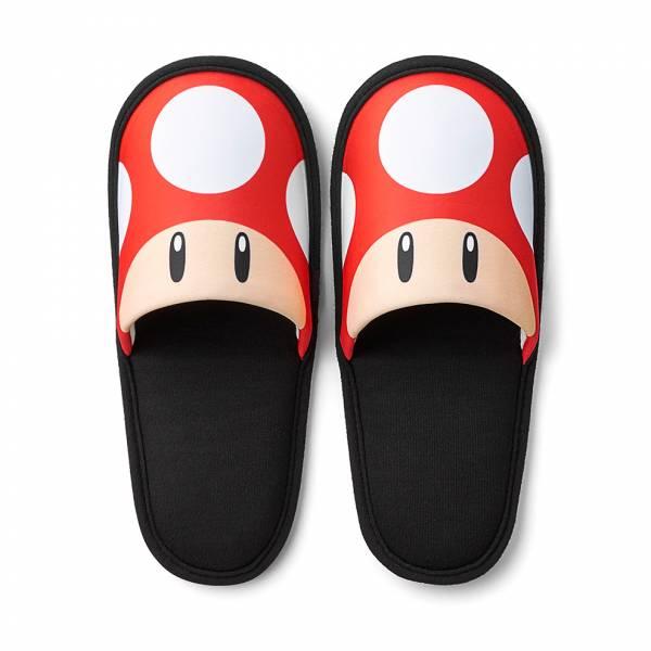 [預購] 任天堂原廠 超級瑪利歐旅行系列 便攜型拖鞋-超級蘑菇 [預計2019年內上市]
