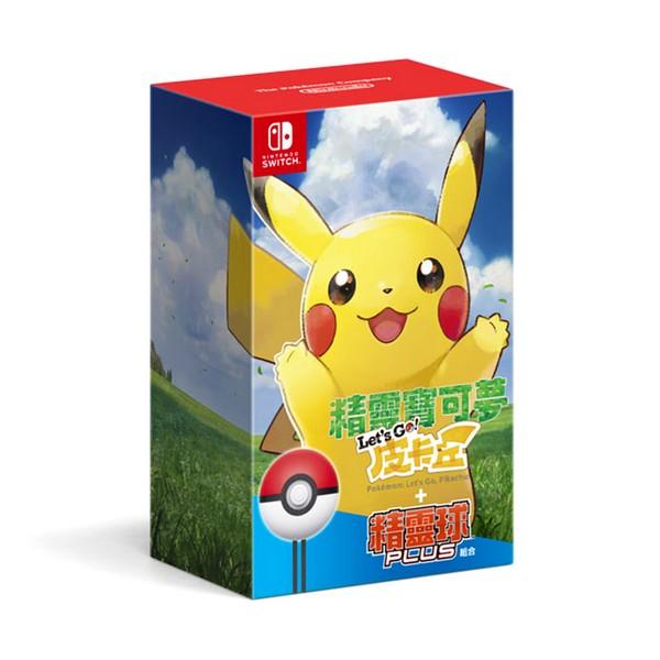 全新 NS 原版遊戲,精靈寶可夢 Let's Go!中文版+精靈球Plus同捆 一組, 無額外贈品