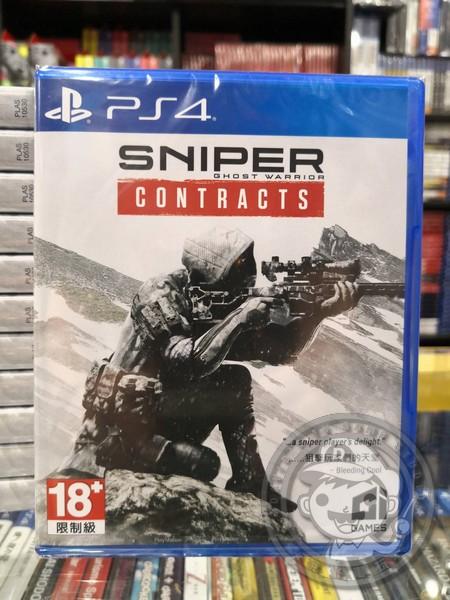 全新 PS4 原版遊戲片, 狙擊之王:幽靈戰士 契約 中英文合版