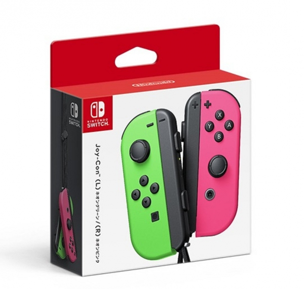 日本原裝進口 全新任天堂原廠 NS 主機用 Joy-Con 無線手把控制器左右各一支,請選要的顏色款式, 無保固