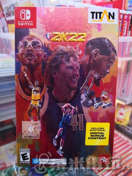 全新 NS 原版遊戲片, NBA 2K22 75 週年紀念中文版, 附特典DLC
