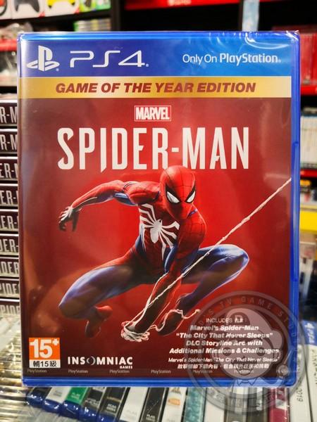 全新 PS4 原版遊戲片, 漫威蜘蛛人 年度版 中文版