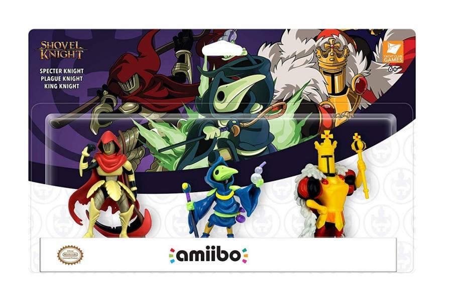 任天堂明星 NFC 連動人偶玩具amiibo鏟子騎士系列(幽靈騎士/瘟疫騎士/國王騎士)一組