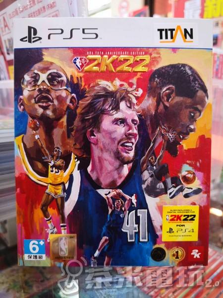 全新 PS5 原版遊戲片, NBA 2K22 75 週年紀念中文版, 附特典DLC