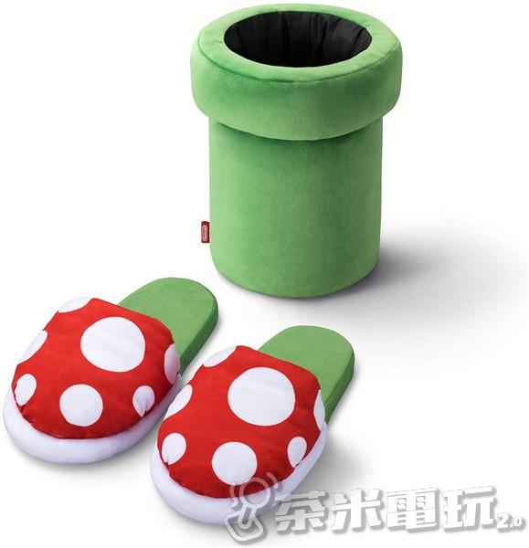 任天堂官方 超級瑪利歐 Home&Party 室內拖鞋(吞食花/水管)