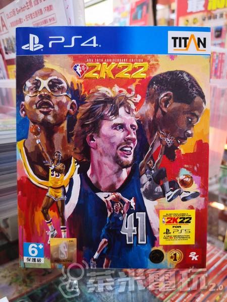 全新 PS4 原版遊戲片, NBA 2K22 75 週年紀念中文版, 附特典DLC