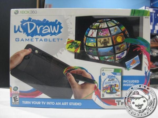 出清 全新 XBOX360 原版遊戲片, U Draw 三片遊戲片+ 繪圖板 英文版
