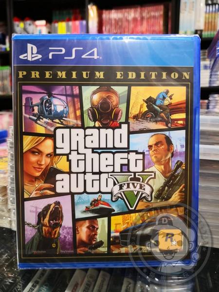 全新 PS4 原版遊戲片, GTA5 俠盜獵車手 5 高級版 中英文合版