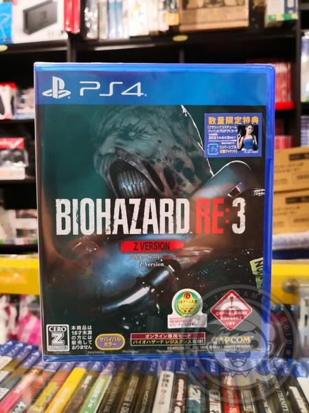 全新 PS4 原版遊戲片, 惡靈古堡 3 重製版 日本地區 純日 Z 版