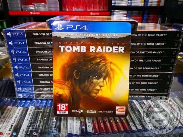 全新 PS4 原版遊戲片, 古墓奇兵:暗影 中文豪華版, 無額外贈品喔