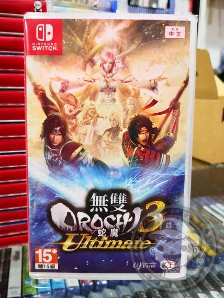 全新 NS 原版遊戲片, 無雙 OROCHI 蛇魔 3 Ultimate 中文版