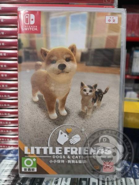 全新 NS 原版卡帶, 小小伙伴 - 狗狗 & 貓貓 - 中文版