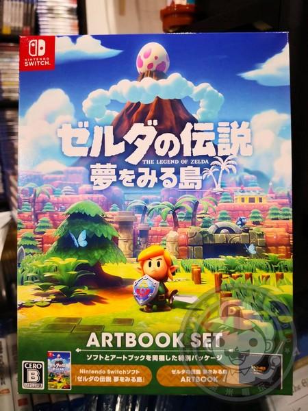 全新 NS 原版卡帶, 薩爾達傳說 織夢島+美術設定集組 同捆 日區日文包版