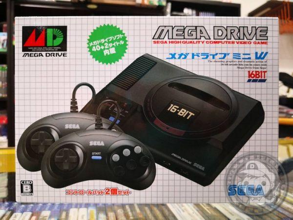 日本 SEGA Mega Drive Mini 復刻版迷你主機(日本日規款),雙手把組