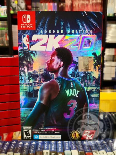 全新 NS 原版遊戲卡帶, NBA 2K20 中文傳奇版+64GB 記憶卡 一組