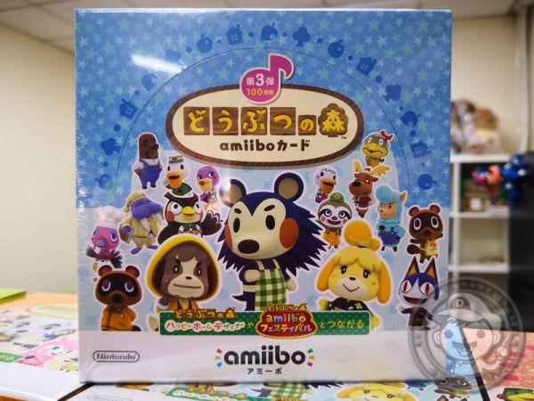 全新任天堂原廠 amiibo 卡片, amiibo 動物之森 第三彈 ,一盒50包, 不拆賣