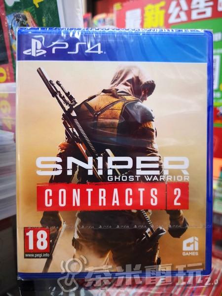 全新 PS4 狙擊之王:幽靈戰士 契約 2 歐版包裝中文版(包裝背後有貼一組DLC)