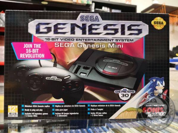 全新代理 SEGA Genesis Mini 復刻版迷你主機(亞洲美規款), 雙手把組